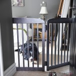 DIY pet gate, DIY pet barrier, upcycled crib to pet gate, repurposed crib