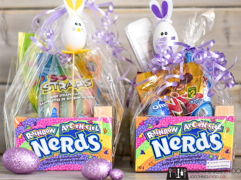 Edible Easter basket, Easter basket ideas, Easter basket treats, Candy Easter baskets