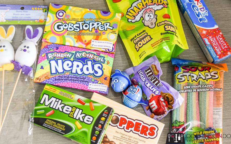 Edible Easter basket, Easter basket ideas, Easter basket treats, Candy Easter baskets