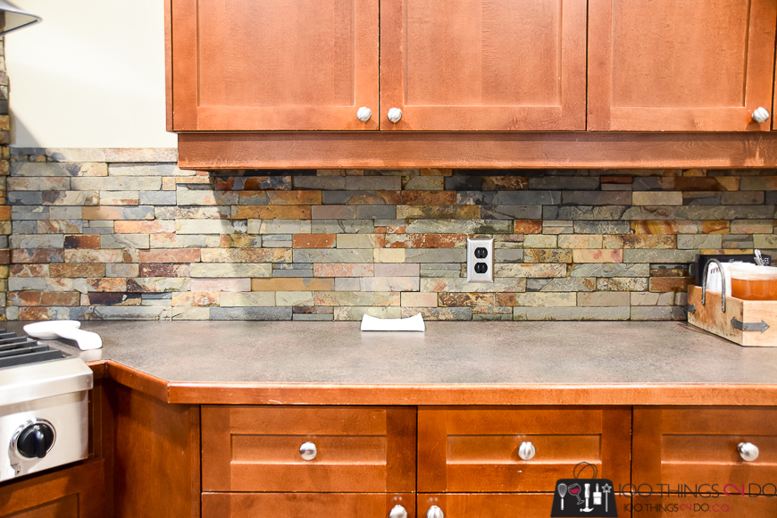 How to clean stone, cleaning a stone backsplash, easiest way to clean a backsplash, HomeRight steam machine, chemical-free cleaning