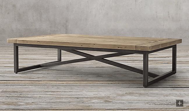 Restoration Hardware Torano rectangular coffee table
