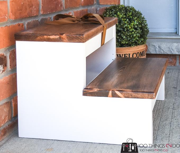 Simple step stool, DIY step stool, scrap wood step stool, stool, step
