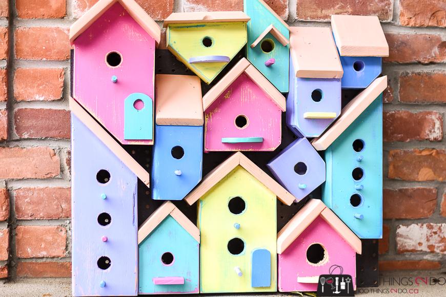 Birdhouse, birdhouses, birdhouse collage, birdhouse art, Wood Art Challenge