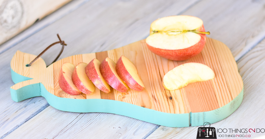 Pear Shaped Cutting Board Tutorial by 100 Things to Do
