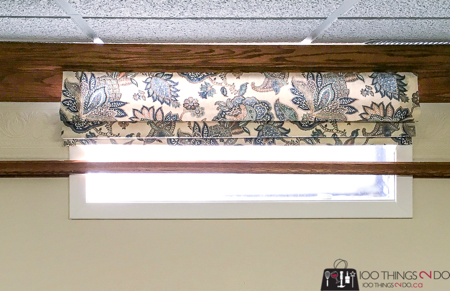 Basement blinds, One Room Challenge, Spring 2018 One Room Challenge, ORC 2018, Katherine, Sweet William Sewing Company, theatre room, roman blinds