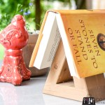 Wood book rest, wood bookmark, triangle book rest, wood triangle, scrap wood project, book lover, DIY book stand