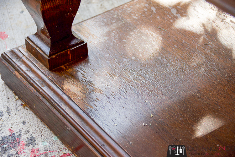 Worn out coffee table, damaged coffee table, old side table