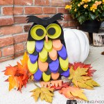 Hallowe'en Owl, DIY Hallowe'en decor, Outdoor Hallowe'en decor, Wood owl