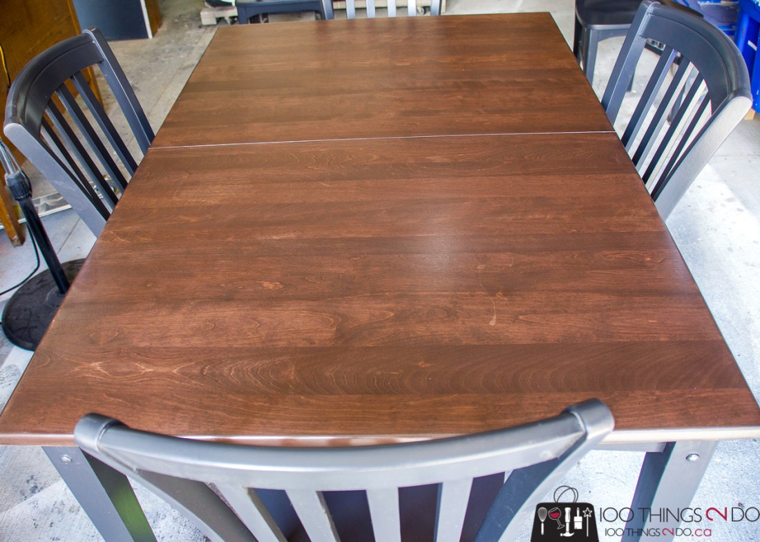 Dining table makeover, kitchen table makeover