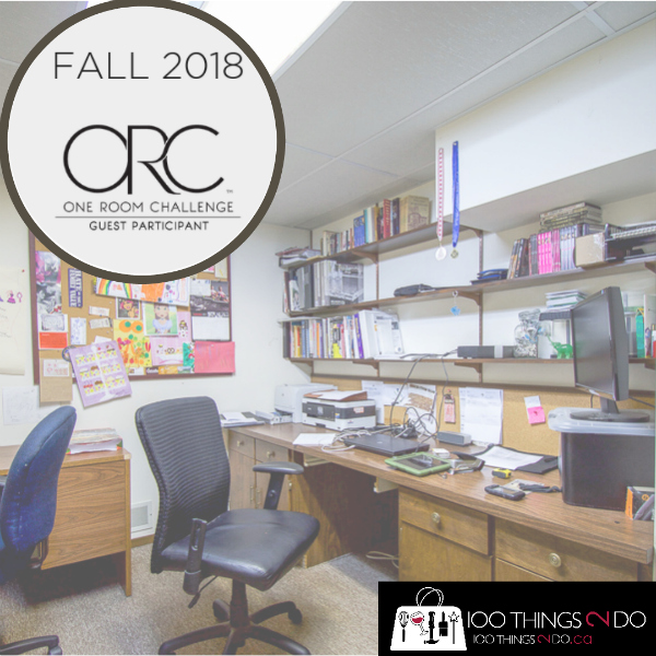 One Room Challenge Fall 2018, Basement office makeover