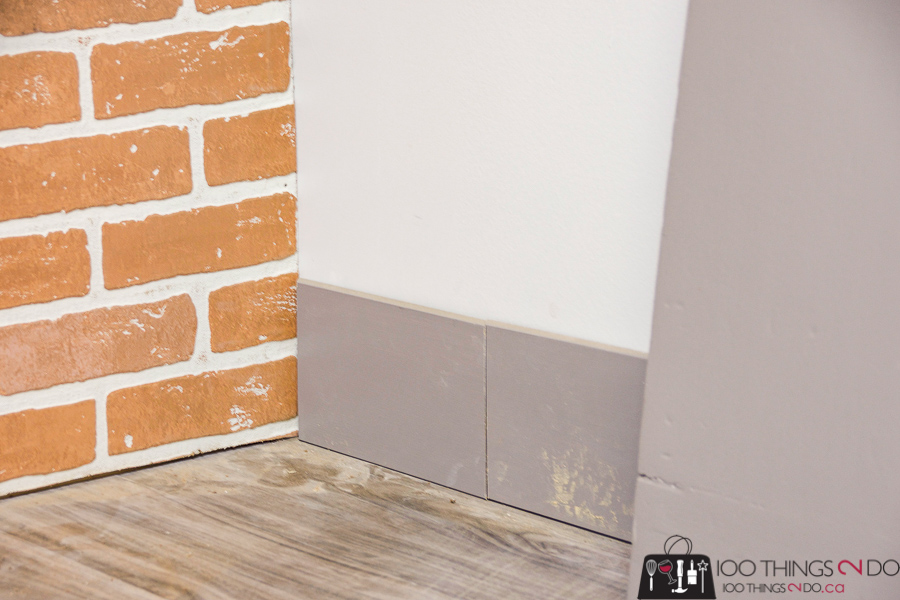 installing baseboard with a scarf joint