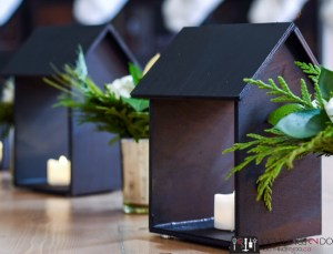 House candle holders, house-shaped candle holders, wooden house candle holders, wooden house, scrap wood house