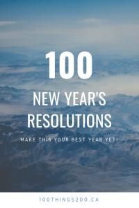New Year's Resolutions, 100 New Year's Resolutions