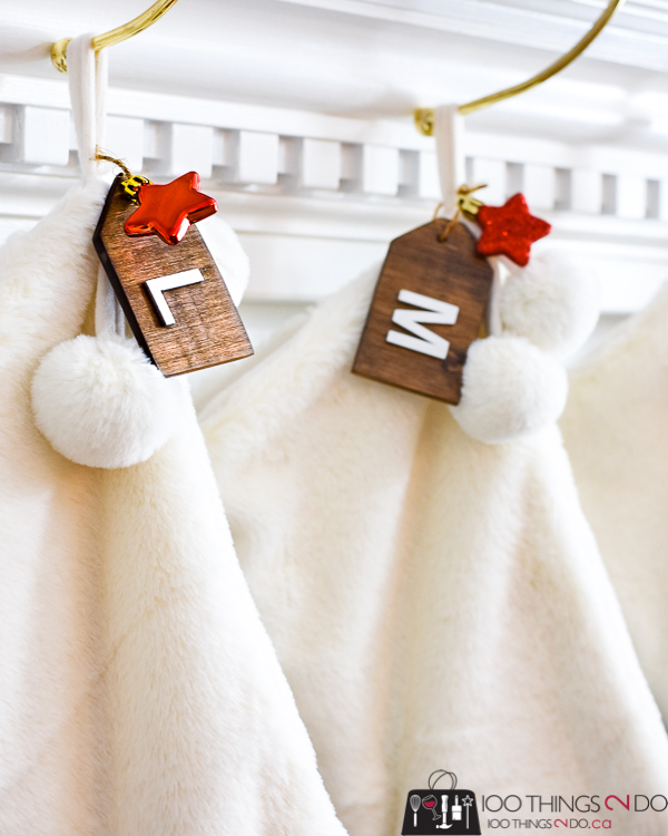 Stocking tags, Christmas stocking tag, wood stocking tags, wooden tags, DIY stocking tags