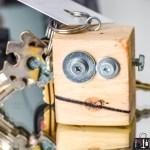scrap wood robot, wood robot, scrap bot, robot keychain, scrap wood keychain, wood keychain