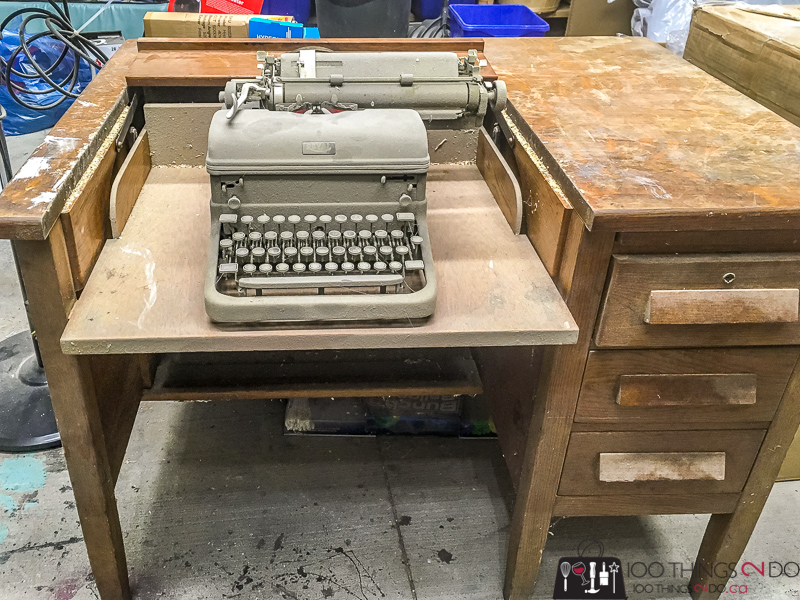 I won't go into the step-by-step refinishing process today – you can check  out any one of the bazillion refinishing projects on the blog for a  detailed ... - Grandma's Typewriter Desk 100 Things 2 Do