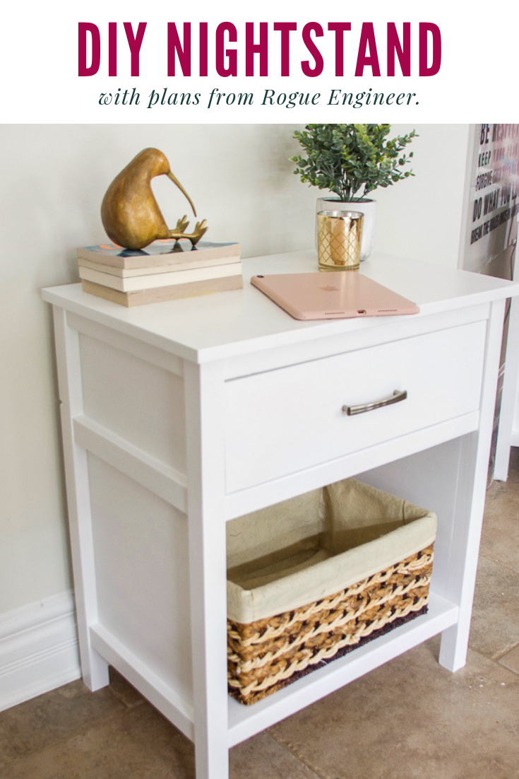 DIY nightstand, DIY bedside table, Cooper nightstand, nightstand with one drawer