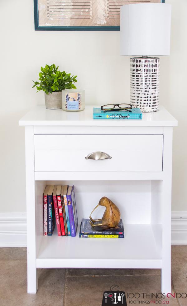 DIY nightstand, DIY bedside table, Cooper nightstand, nightstand with one drawer