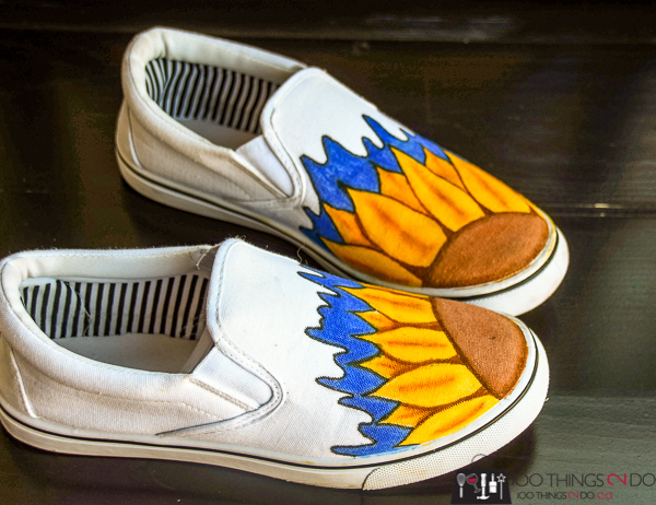 Painted shoes, hand-painted shoes, custom painted shoes, fabric markers