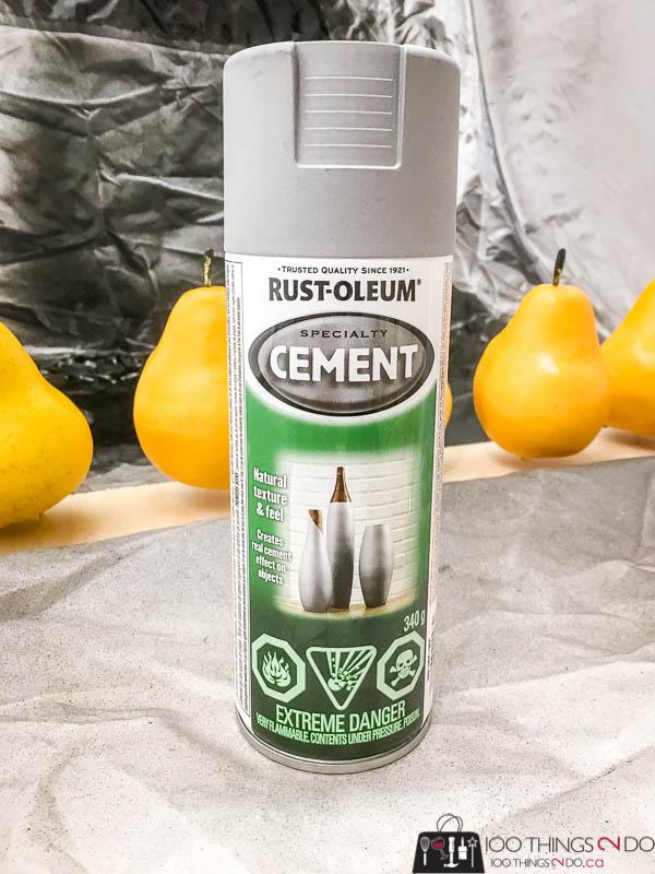 Rust-Oleum Cement spray paint, cement spray paint, Rust-Oleum Canada