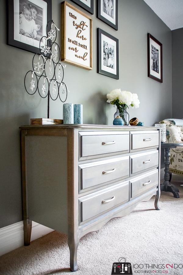 Dresser makeover, grey dresser, gray dresser