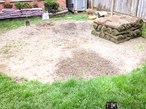 laying sod over chips and dust