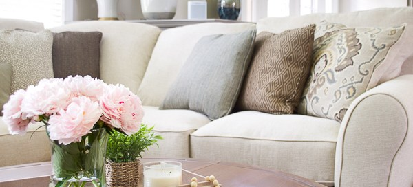 beige sectional, sectional sofa, white sectional, Wilcot sectional, Ashley Homestore