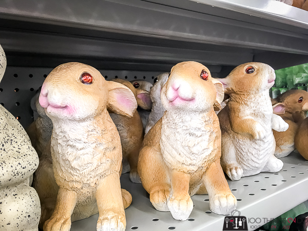 dollar store rabbit statues