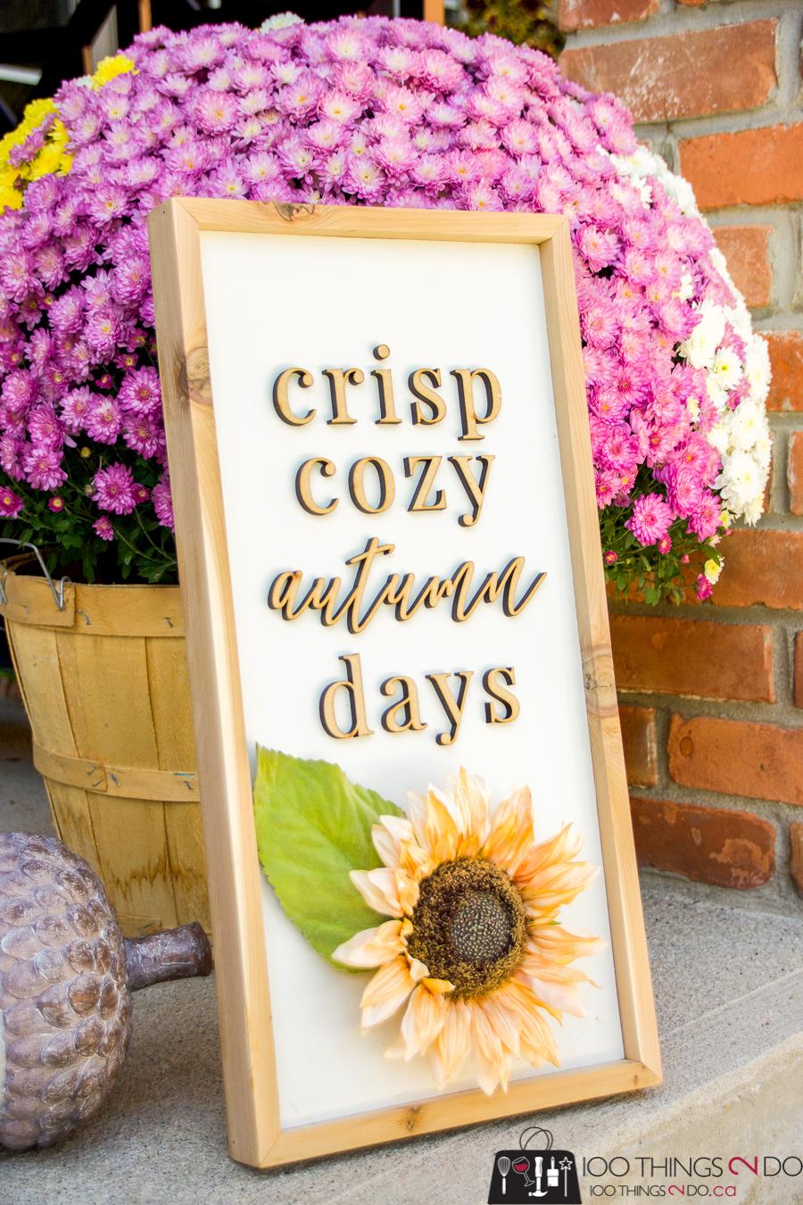 Fall sign, Autumn sign, Fall decor, Autumn decor, wooden fall sign, wooden autumn sign, Details 2 Enjoy, DIY wood sign