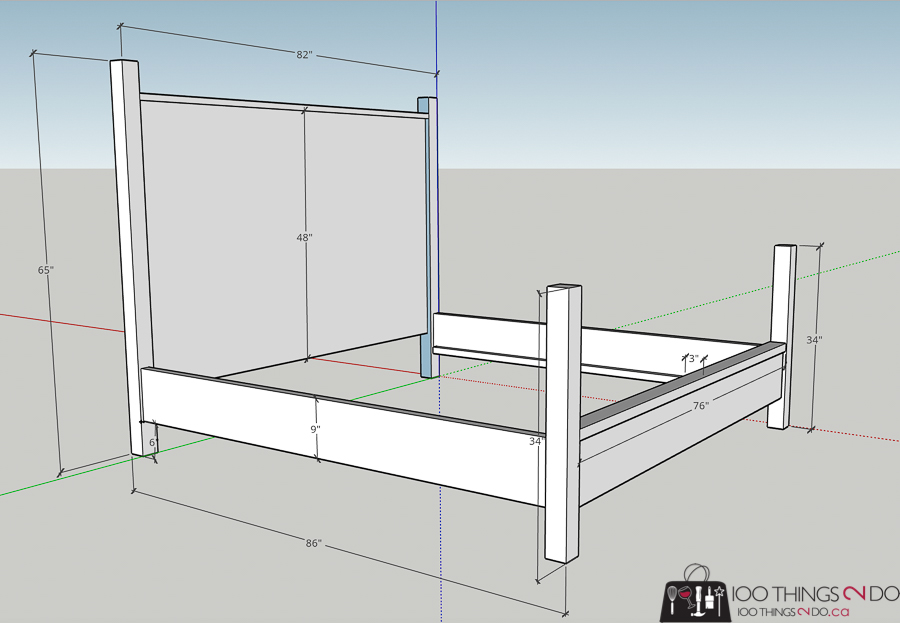 DIY kingsize bed, do-it-yourself kingsize bed, kingsize bed with upholstered headboard