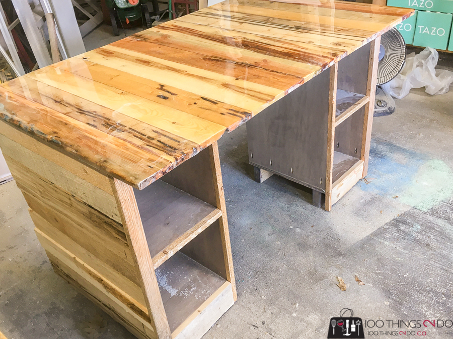epoxy coated desk