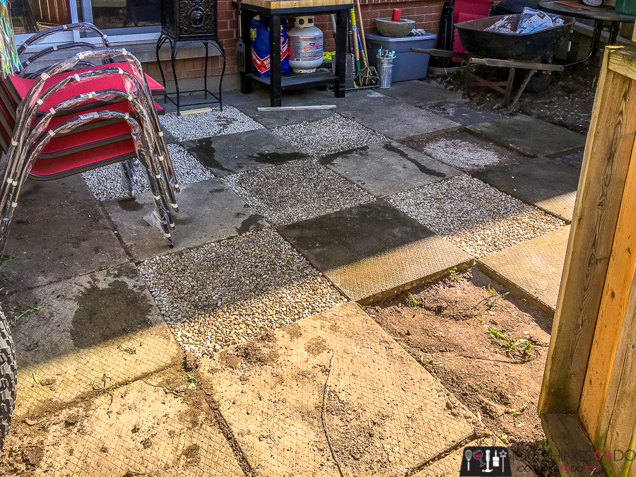 Removing pavers and inserting pea gravel