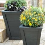 DIY tall planter, DIY tapered planter, DIY planter