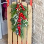 Christmas sled, wooden sled, DIY wood sled