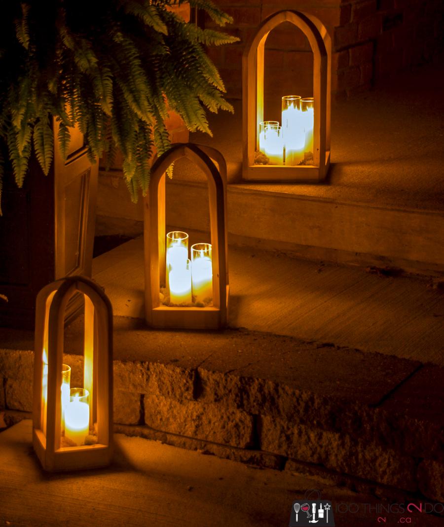 rounded top lantern, DIY lantern, DIY rounded top lantern, Christmas lantern