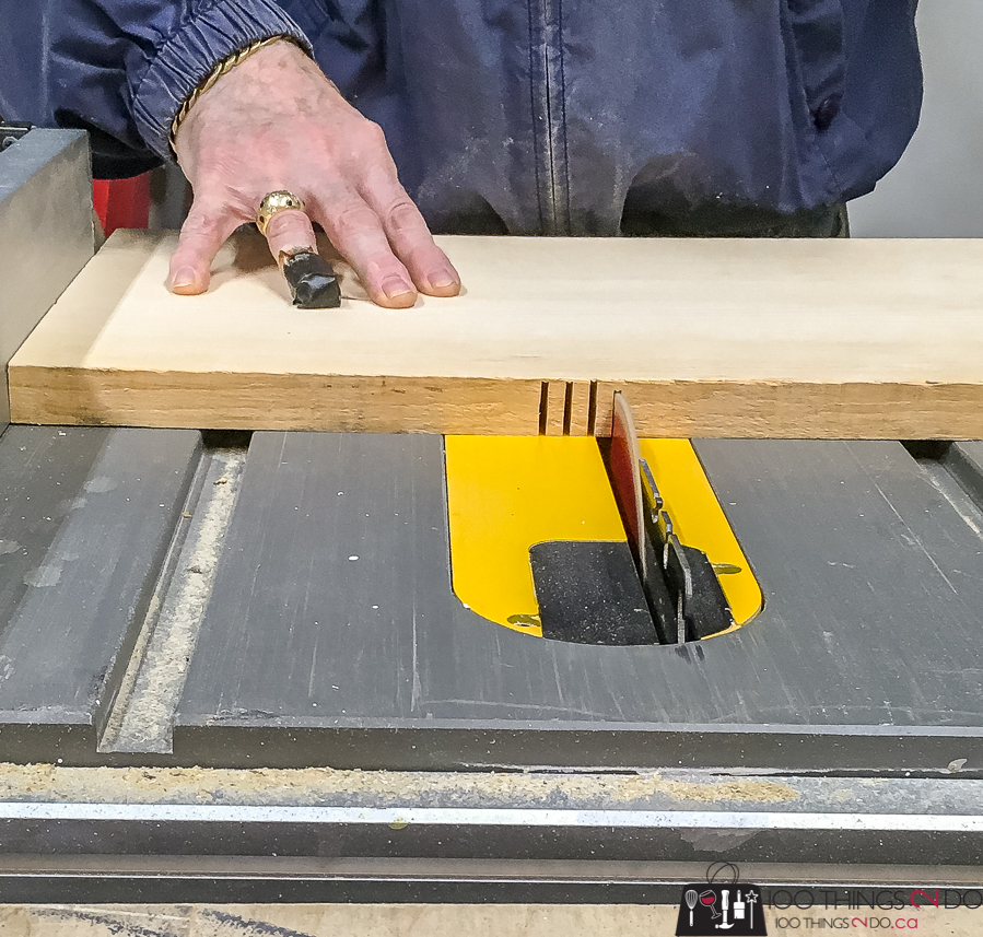 kerf cuts on a table saw