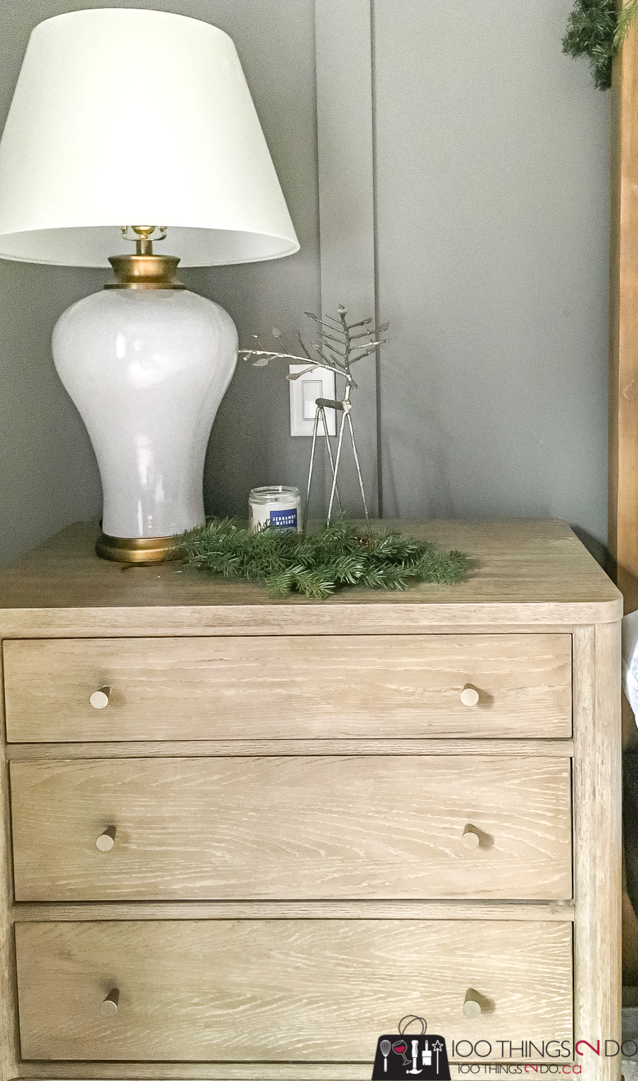 Christmas nightstand