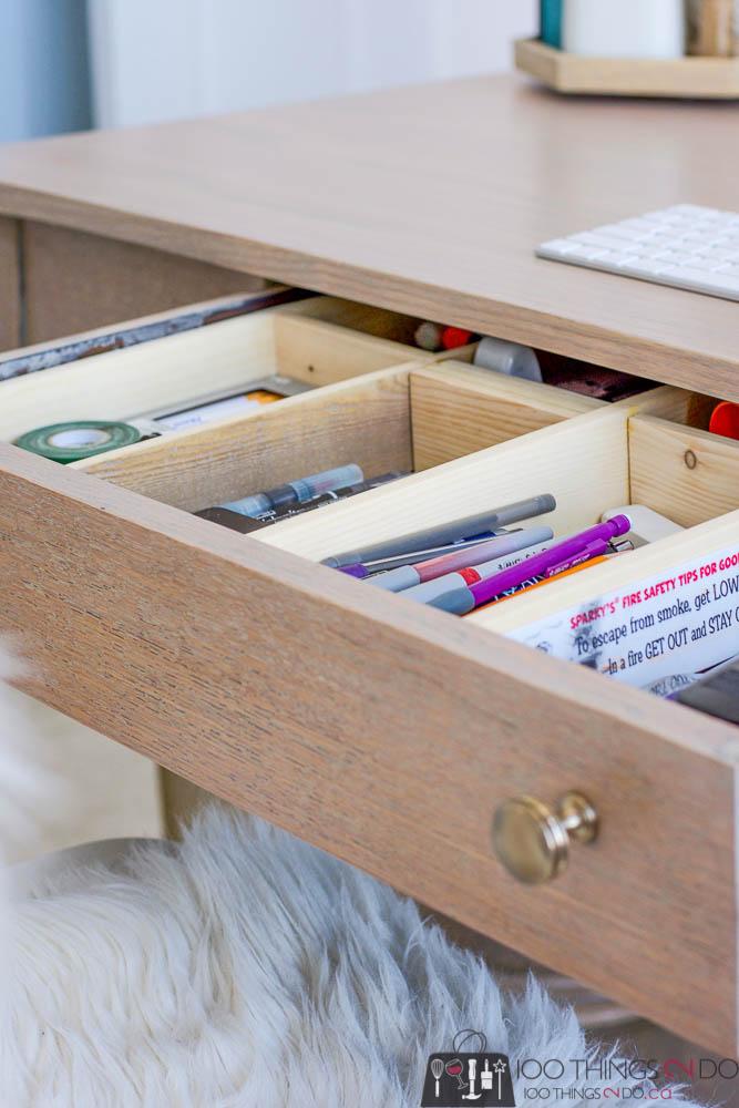 scrap wood desk organizer