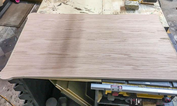 new oak plywood top for antique desk