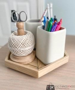 desk organizer lazy susan