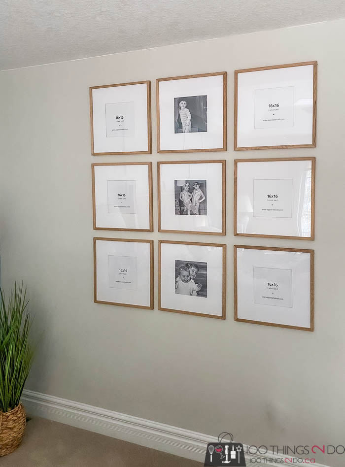 Quick, easy and inexpensive gallery wall
