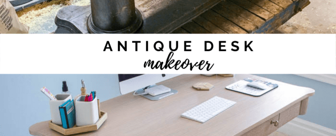 antique desk makeover, refinishing an antique desk
