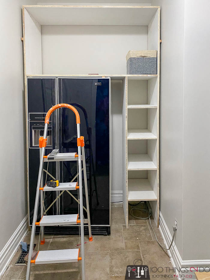 attaching shelves to mudroom built-ins