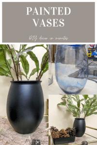 painted vases, painted vase, DIY decor, faux pottery