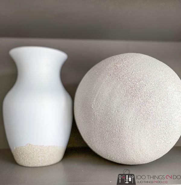 Rust-oleum stone accent, painted vases