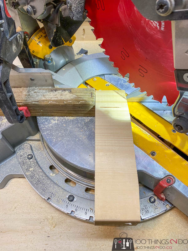using a mitre saw with jig