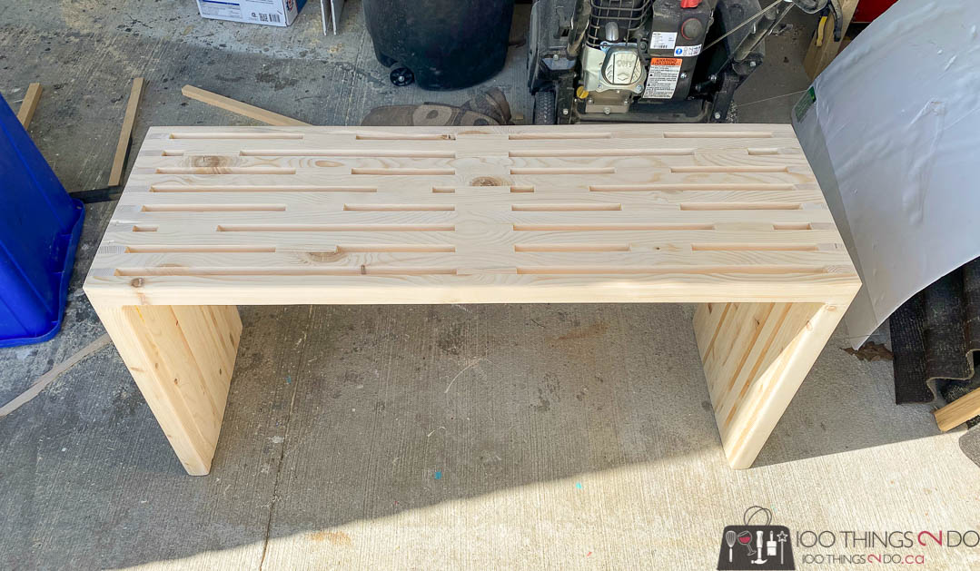scrap wood plant shelf
