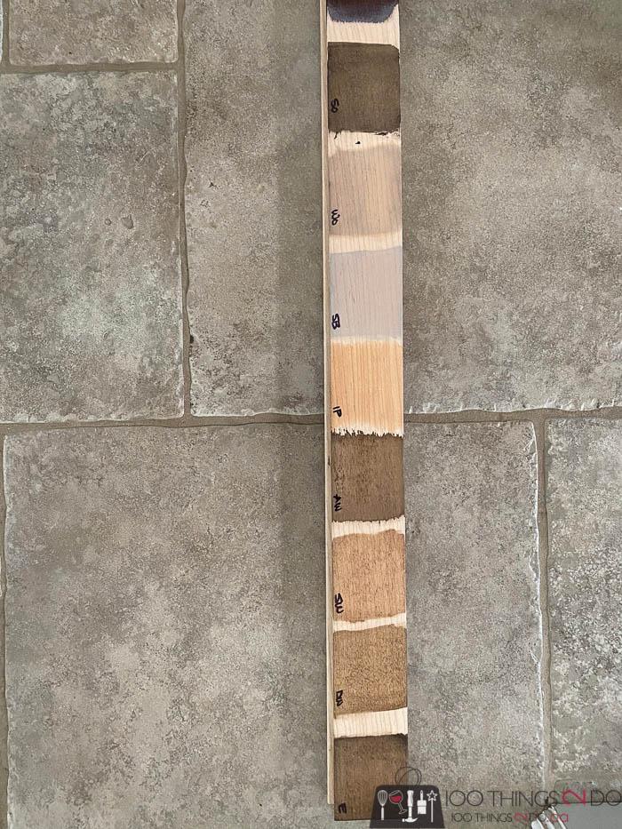 stain samples for hardwood flooring