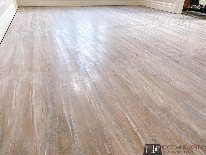 sanding the clear coat on hardwood floors