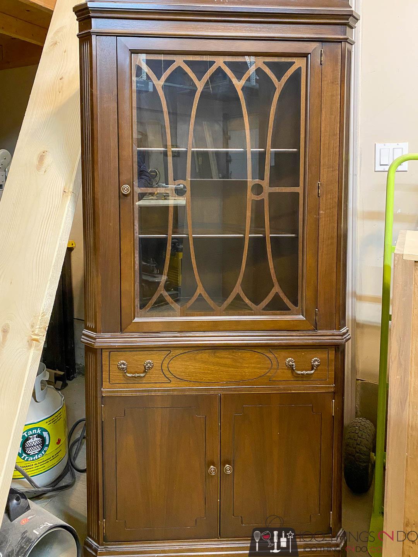 Grandma's corner cabinet